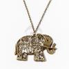Antikolt elefánt medálos nyaklánc jwr-1198