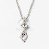 Ezüst bevonatos delfin medálos nyaklánc fehér kővel jwr-1298