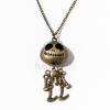 Csontváz figurás nyaklánc - antikolt jwr-1195