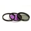 Polaroid szűrőszett (UV, CPL, FLD) + 4 db-os szűrőtok 62 mm