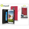 Muvit Samsung SM-G800 Galaxy S5 Mini flipes tok kártyatartóval - Muvit Slim and Stand - pink/black