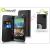 Muvit HTC One (M8) flipes tok kártyatartóval - Muvit Slim and Stand - black