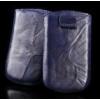 Telone Special Creased álló kihúzhatós bőrtok Samsung i9000 Galaxy S méretű kék*