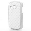 utángyártott Műanyag telefonvédő (strasszkővel) FEHÉR [Samsung GT-S6810 Galaxy Fame]