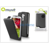 Muvit LG G2 Mini D620 flipes tok képernyővédő fóliával - Muvit Slim - black