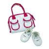 Götz babaruha - Fehér cipő és táska (42-50 cm-es babára)