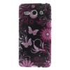 utángyártott Telefonvédő gumi / szilikon (pillangó, virágminta) FEKETE [Huawei Ascend Y530 (C8813)]