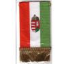 Autós zászló, 4 szögletű, címeres, rojtokkal autó dekoráció