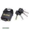 biztonsági lakat, levágás elleni védelemmel, festett, vízálló, 4db kulcs; 50mm