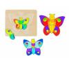 Goki Többrétegű fa kirakó, pillangó puzzle, kirakós