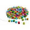 Goki Fa gyöngyfűző betűkockák, színes
