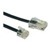 ISDN csatlakozókábel [1x RJ45 dugó 8p4c - 1x RJ11 dugó 6p4c] 3 m fekete Conrad
