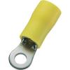 Gyűrűs kábelsaru 4 mm² 6 mm² M10 Részlegesen szigetelt Sárga Conrad 93014c554 50 db