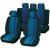 Unitec Autó üléshuzat készlet, 14 részes, kék/fekete, Unitec