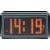 Renkforce Renkforce Rádiójel vezérlésű ébresztőóra mátrix kijelzővel (H x Sz) 74 mm x 134 mm Fekete