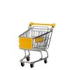 mini bevásárlókocsi sárga 14.5cm