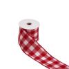 RIBBON szalag kockás fehér/piros 3mx6cm