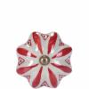Open bútorgomb 5cm kerámia virág piros