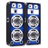 Skytec 25 cm PA hangfalpár, kék fényeffekt, 2 x 800 W
