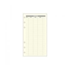 """SATURNUS Kalendárium betét, költségtervező """"L"""", SATURNUS ( gyűrűs kalendárium betétlap"""