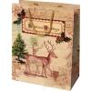 Ajándéktasak, közepes,  17,8x10x23 cm, karácsonyi (CSATKOKA03)