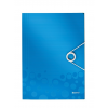 Esselte Kft. LEITZ WOW gumis mappa, PP, kék