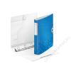 Leitz Gyűrűs könyv, 4 gyűrű, D alakú, 52 mm, A4, PP, LEITZ Active Wow kék (E42400036)