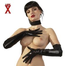 Latex kesztyű - fekete bőr, lakk, latex eszköz