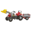 Rolly Toys Rolly Junior pedálos markolós traktor utánfutóval