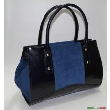Kék olasz bőr kézitáska kézitáska és bőrönd