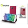 Muvit Samsung SM-G850 Galaxy Alpha flipes tok kártyatartóval - Muvit Slim and Stand - pink