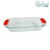 Perfect home 33006 hõálló edény szilikon füllel 42,5*24*5 cm, üveg