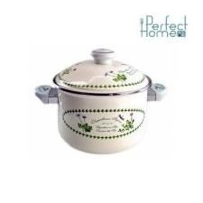 Perfect home 11327 mintás zománc fazék kerámia füllel 26 cm + fedő edény
