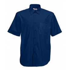 Fruit of the Loom FoL Short Sleeve Oxford Shirt, sötétkék