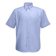 Fruit of the Loom FoL Short Sleeve Oxford Shirt, oxfordkék