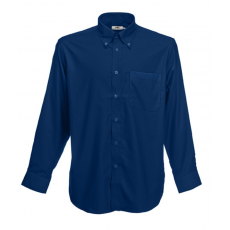 Fruit of the Loom FoL Long Sleeve Oxford Shirt, sötétkék