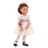 Esküvői ruhás Laura GÖTZ baba, barna szemű, barna hajú, 50 cm magas