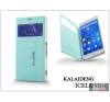 Kalaideng Sony Xperia Z3 (D6603) flipes tok - Kalaideng Iceland 2 Series View Cover - turquoise blue tok és táska