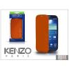 Kenzo Samsung i9500 Galaxy S4 flipes bőrtok - Kenzo GlossyCox - orange