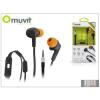 Muvit univerzális sztereó felvevős fülhallgató - 3,5 mm jack - Muvit Music and Call - black/orange