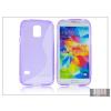 Haffner Samsung SM-G800 Galaxy S5 Mini szilikon hátlap - S-Line - lila