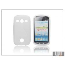 Haffner Samsung S7710 Galaxy Xcover 2 szilikon hátlap - S-Line - fehér tok és táska
