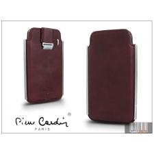 Pierre Cardin valódi bőrtok - Apple iPhone 4/4S - Type-2 - bordó tok és táska
