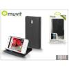 Muvit LG E430 Optimus L3 II flipes tok kártyatartóval - Muvit Slim and Stand - black