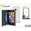 Muvit Nokia Lumia 530 flipes tok kártyatartóval - Muvit Wallet Folio - white
