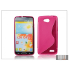 Haffner LG L90 D405 szilikon hátlap - S-Line - pink