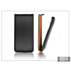 Haffner Slim Flip Carbon bőrtok - Apple iPhone 6 - fekete