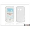Haffner Samsung S6500 Galaxy Mini 2 szilikon hátlap - fehér - S-Line