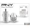 PNY USB szivargyújtós töltő adapter - 5V/2,1A - fehér mobiltelefon kellék