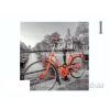 Vászonhatású kép biciklis 39cm többféle